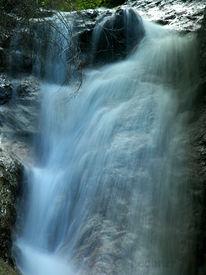 Wasserfall, Schwarz, Licht, Wasser