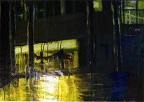Nacht, Schaufenster, Landschaft, Licht
