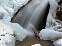 Wasser, Lainbachfall, Eis, Wasserfall