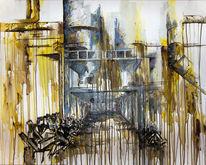 Industrie, Luxemburg, Ästhetik, Acrylmalerei