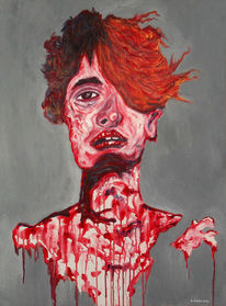 Blut, Grau, Schmerz, Rot