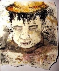 Menschen, Aquarellmalerei, Skizze, Portrait