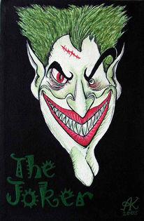 Rot schwarz, Weiß, Joker, Grün