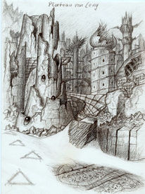 Landschaft, Leng, Psychedelisch, Zeichnungen