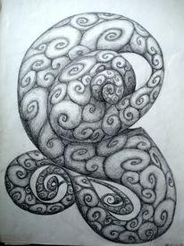 Spirale, Wirbel, Bleistiftzeichnung, Zeichnungen