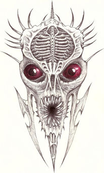 Kugelschreiber, Grusel, Horror, Dämon