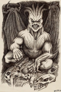 Monster, Dämon, Psychedelisch, Zeichnungen