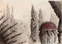 Scurril, Gespenstisch, Nebel, Tempel