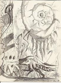 Psychedelisch, Zeichnung, Außerirdisch, Zeichnungen