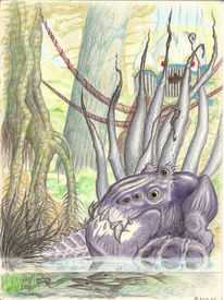 Monster, Grotesk, Unheimlich, Zeichnungen