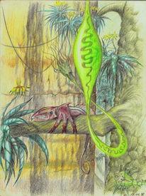 Psychedelisch, Scurril, Außerirdisch, Zeichnungen