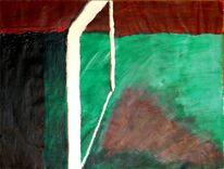 Acrylmalerei, Braun, Malerei, Tor