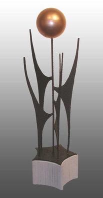 Eisen, Kupfer, Skulptur, Abstrakt