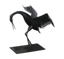 Handgeschmiedet, Kranich, Eisen, Skulptur
