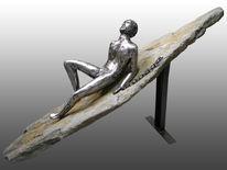 Figur, Feuer, Skulptur, Menschen