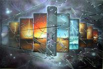 Malerei, Acrylmalerei, Welt, Universum