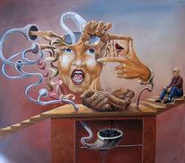 Leben, Menschen, Dummheit, Acrylmalerei