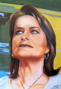 Malerei, Gesicht, Portrait, Acrylmalerei
