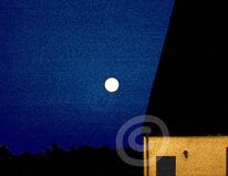 Digital, Nacht, Haus, Mond