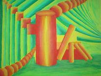 Geometrie, Malerei, Formen, Grün