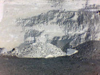 Krater, Haufen, Stein, Landschaft