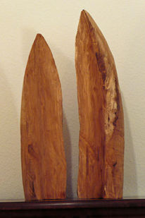 Holz, Blumen, Skulptur, Abstrakt
