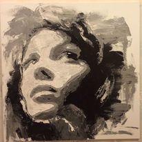 Portrait, Gesicht, Frau, Malerei