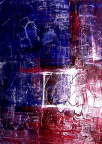 Abstrakt, Blau, Acrylmalerei, Lila