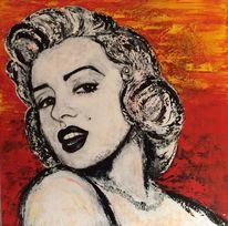 Groß, Frau, Reiz, Marilyn monroe