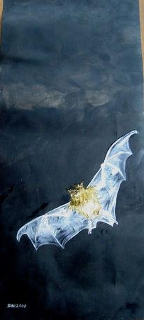 2008, Fledermaus, Malerei