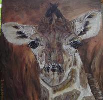 Giraffe, Afrika, Malerei,