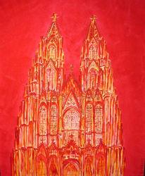 Köln, Dom, Rot, Kölner