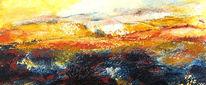 Acrylmalerei, Landschaft, Malerei, Gemälde