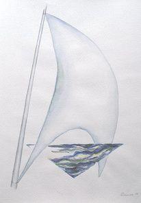 Aquarellmalerei, Malerei, Natur, Wind