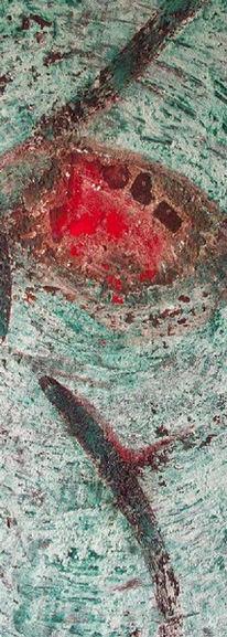 Acrylmalerei, Marmormehl, Abstrakt, Pigmente