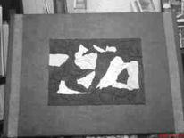 Acrylmalerei, Divers, Schwarz weiß, Leder
