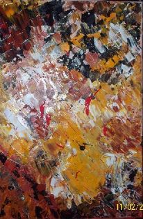 Acrylmalerei, Spachtel, Abstrakt, Malerei