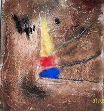 Informel, Marmormehl, Pigmente, Acrylmalerei