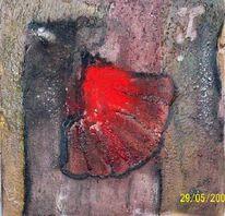 Struktur, Informel, Marmormehl, Acrylmalerei