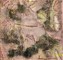Acrylmalerei, Marmormehl, Abstrakt, Spachteltechnik