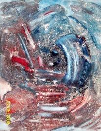 Marmormehl, Acrylmalerei, Pigmente, Spachteltechnik