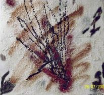 Tuschmalerei, Acrylmalerei, Marmormehl, Spachteltechnik