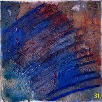 Spachteltechnik, Acrylmalerei, Struktur, Abstrakt