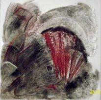 Informel, Pigmente, Marmormehl, Acrylmalerei