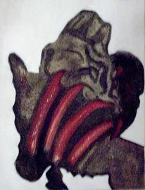 Marmormehl, Acrylmalerei, Spachteltechnik, Abstrakt