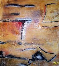 Abstrakt, Struktur, Pigmente, Tusche