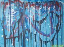Aktion, Gemälde, Abstrakt, Acrylmalerei