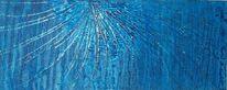 Blau, Mischtechnik, Struktur, Abstrakt
