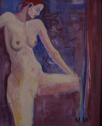Acrylmalerei, Akt, Figural, Schön