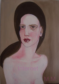 Ölmalerei, Melancholie, Gemälde, Hut